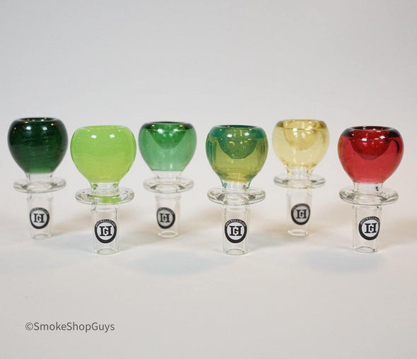 Hitwell Glass Round Bowl (Assorted Colors) - Hitwell Glass -- SmokeShopGuys Slide