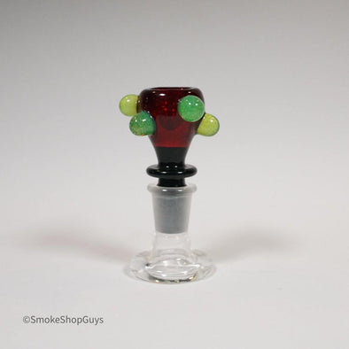 Hitwell Glass Heavy Colored Dot Bowl - Hitwell Glass -- SmokeShopGuys Slide