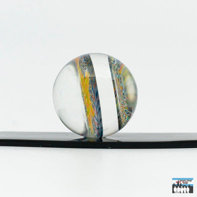 "JFell Glass Dual Spaced Millie 28mm ""Slurper Marble"""