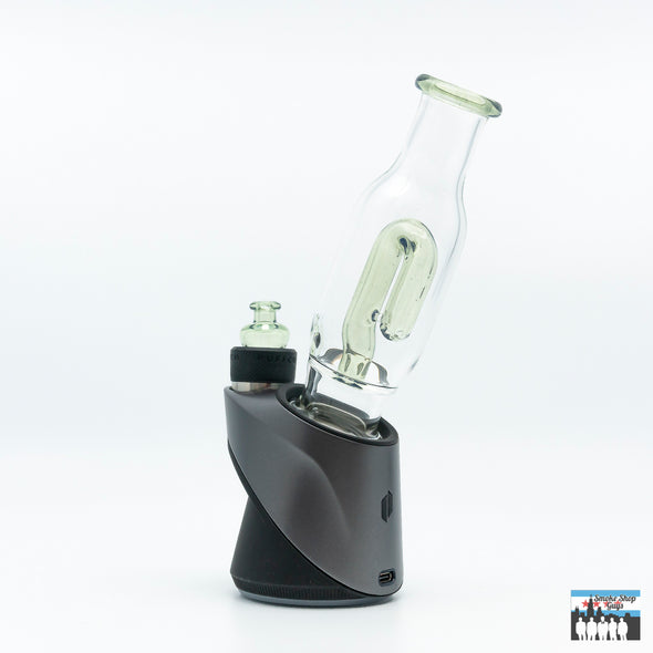 N3rd Glass 2-Hole Peak Attachment W/ Matching Bubble Cap (Potion)