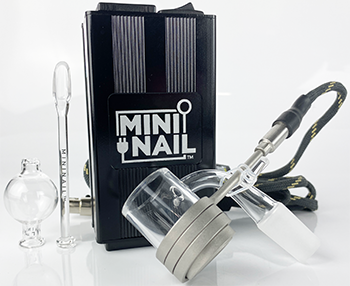 Mini Nail Complete Glass Kit (Glass Shovel/Bubble Cap W/ E-Banger) - Mini Nail -- SmokeShopGuys E-Nail
