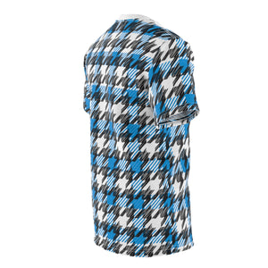 Blue Houndstooth - Unisex All Over Print Cut & Sew Tee