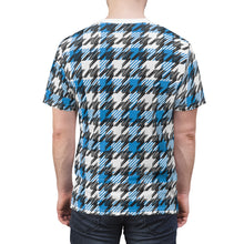 Load image into Gallery viewer, Blue Houndstooth - Unisex All Over Print Cut & Sew Tee