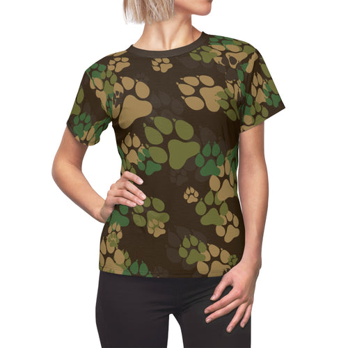 PAWS Camo 2 - Women's All Over Print Cut & Sew Tee