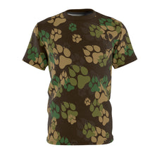 Load image into Gallery viewer, PAWS Camo 2 - Unisex All Over Print Cut & Sew Tee