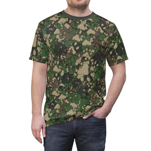 PAWS Camo 1 - Unisex All Over Print Cut & Sew Tee
