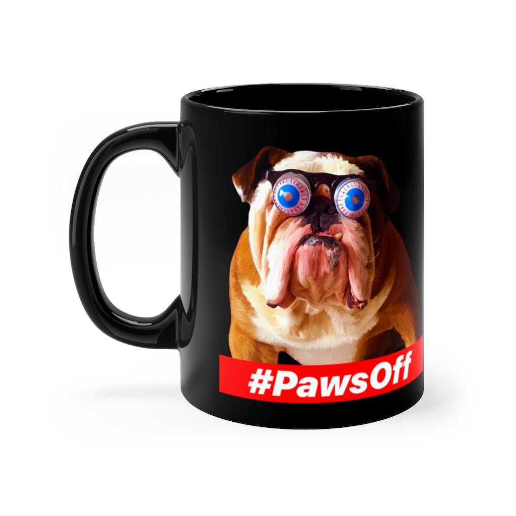 Paws Off - Black mug 11oz
