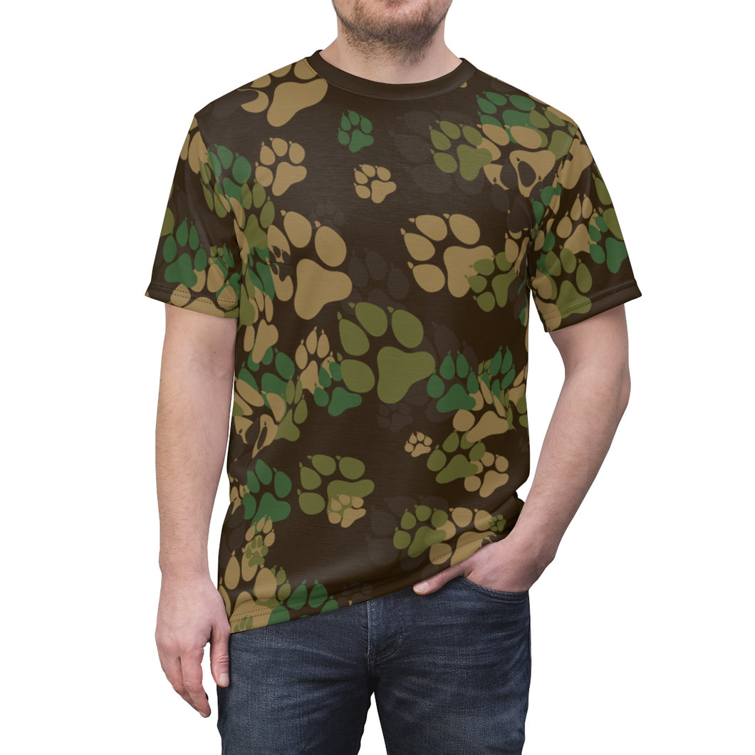 PAWS Camo 2 - Unisex All Over Print Cut & Sew Tee