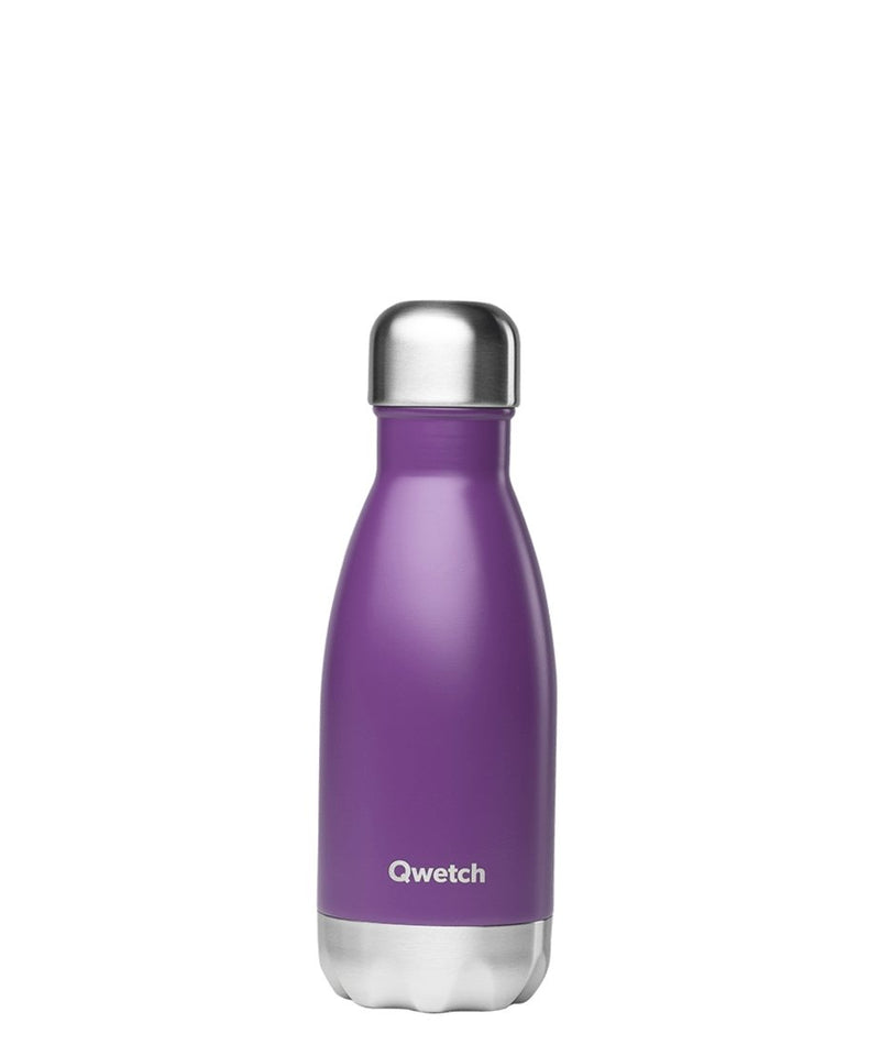 Gourde bouteille isotherme en inox - Originals Pourpre - 260 ml-Default Title-Gourde-Qwetch-Nature For Kids-1