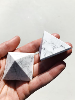 Howlite Pyramid - Intuitively Chosen