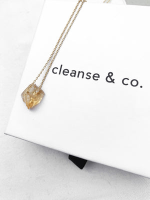 Gold Raw Citrine Necklace