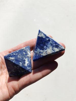 Sodalite Pyramid - Intuitively Chosen