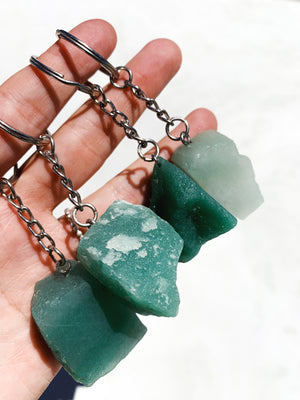Raw Aventurine Key Chain