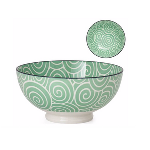 Sea Green Swirl Bowl