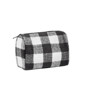 HAR Buffalo Check Travel Bag BLK/WH