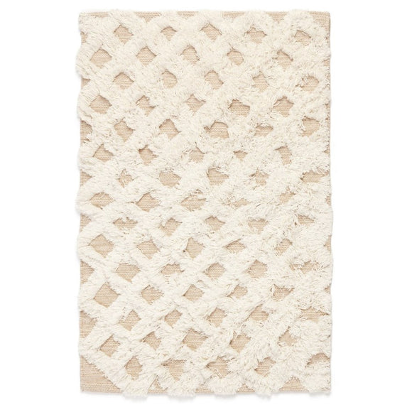 White & Beige Area Rug