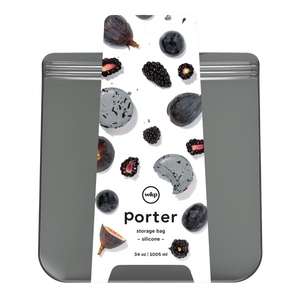 W&P Porter 34 oz Charcoal Silicone Storage Bag