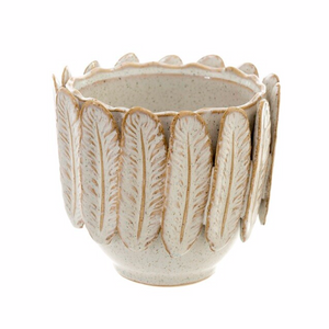 IND Plume Feather Pot