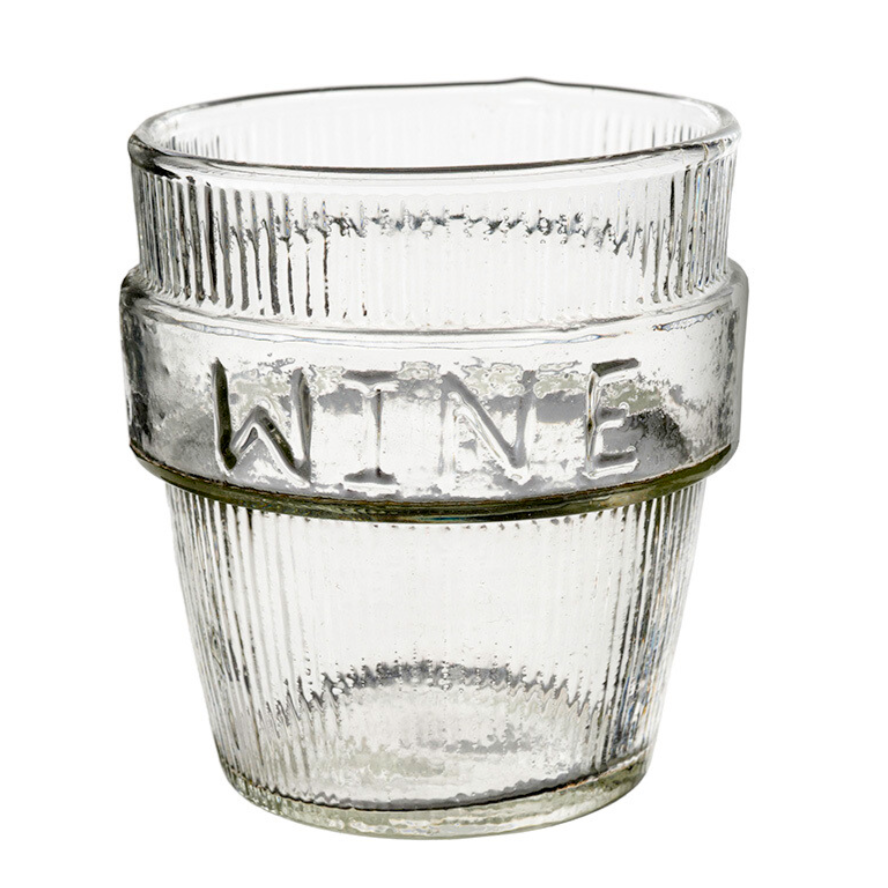IND Wine Pressed Glass