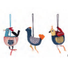 Coop Felt Bird Ornaments Assorted