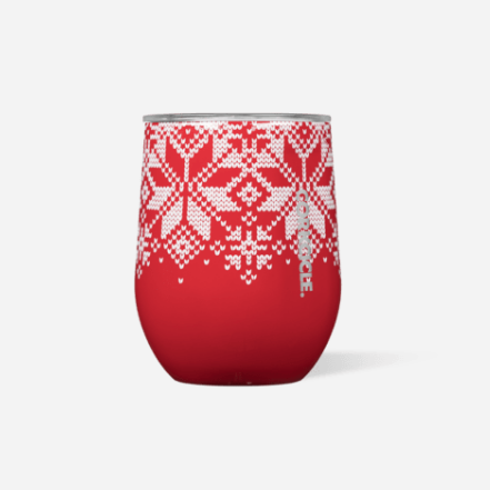 Cork Stemless Fairisle Red & White Collection