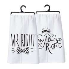 PRIM Mr & Mrs Tea Towel