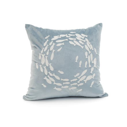 TPC Blue Swimming Fish Cushion