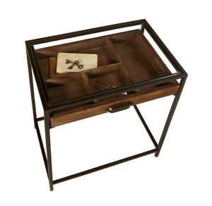Mid Table With Curio Pull Drawer