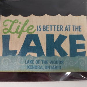 Peak LOTW Life Lake Wood Sticker
