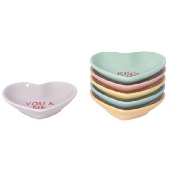 D Sweet Heart Pinch Bowls Assorted