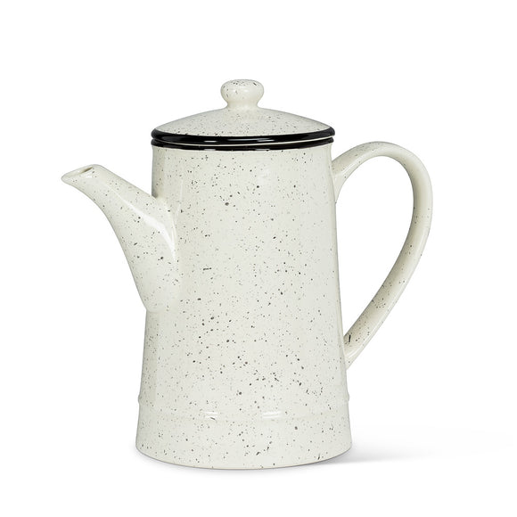 Cream Speckled Teapot