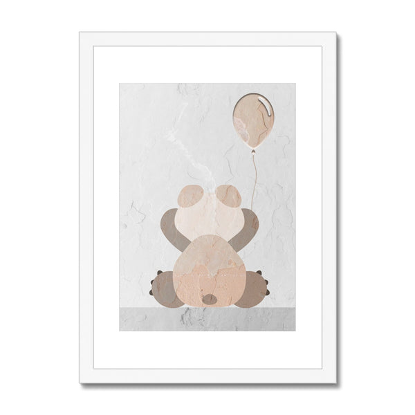 Stone Bear Framed & Mounted Print - HusLiving