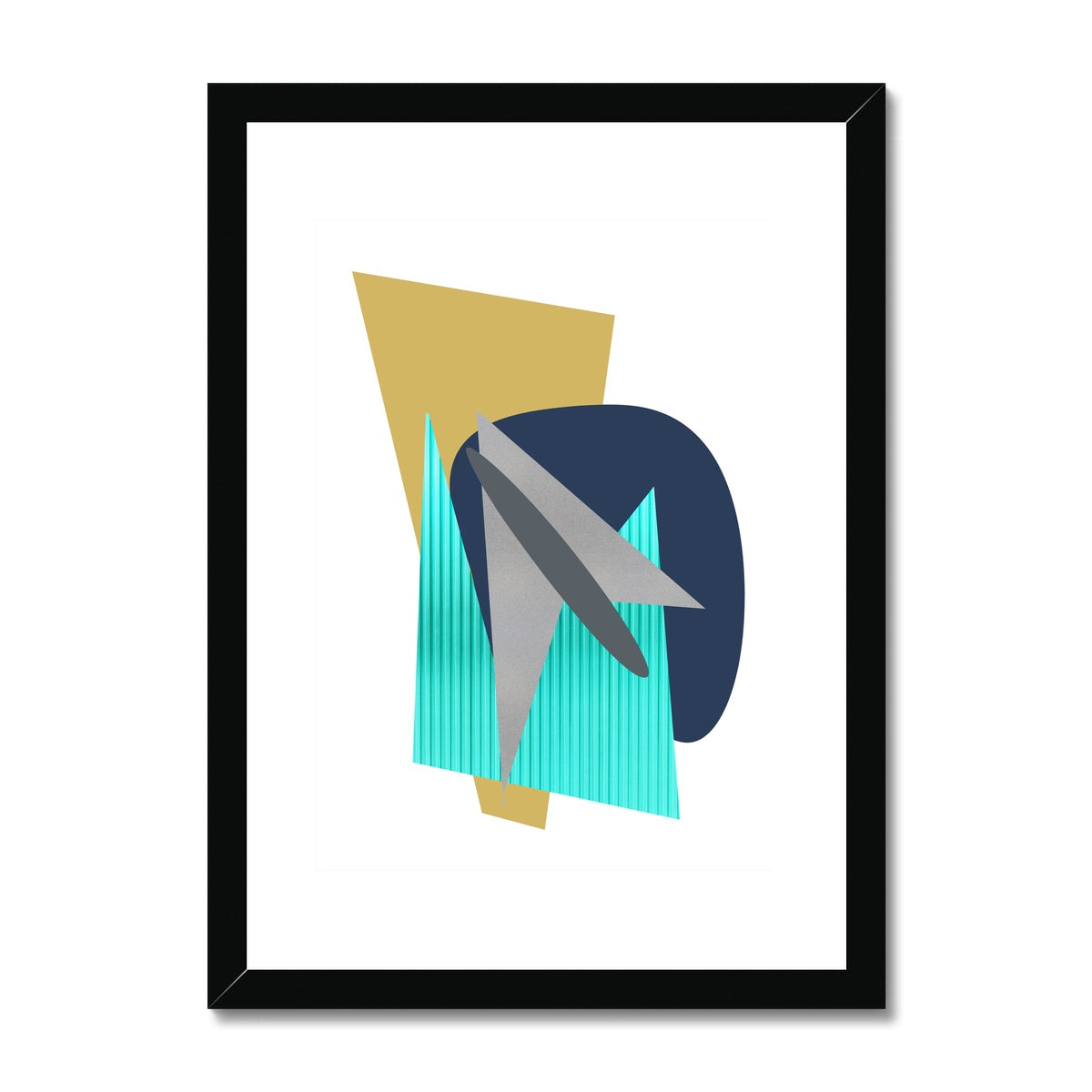 Sharp Edges Framed & Mounted Print - HusLiving