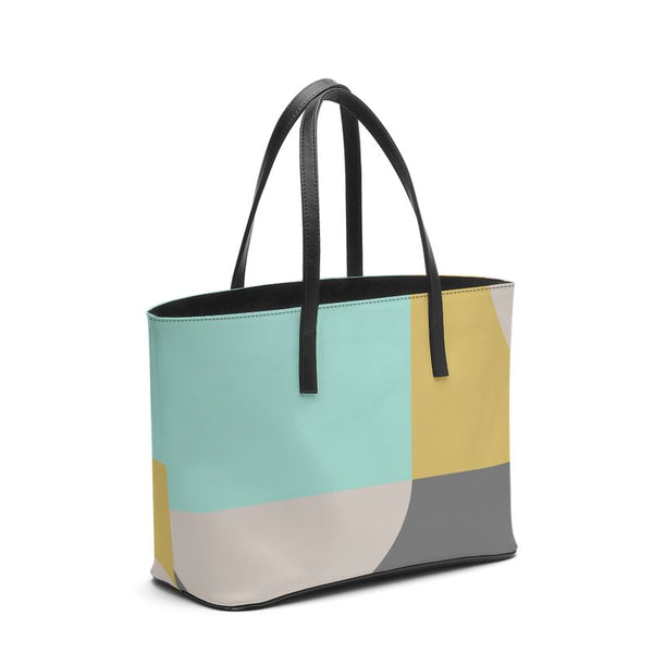 Vibrant Shapes Leather Bag - HusLiving