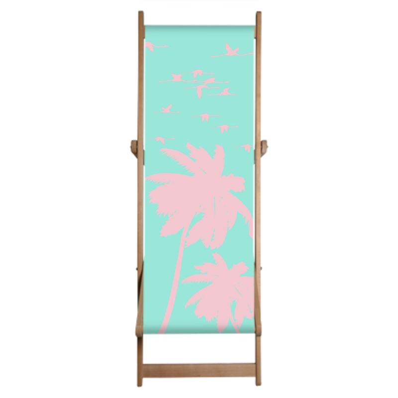Flying Flamingos Deck Chair - HusLiving