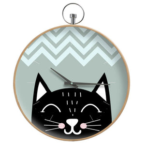 Nordic Cat Wall Clock - HusLiving