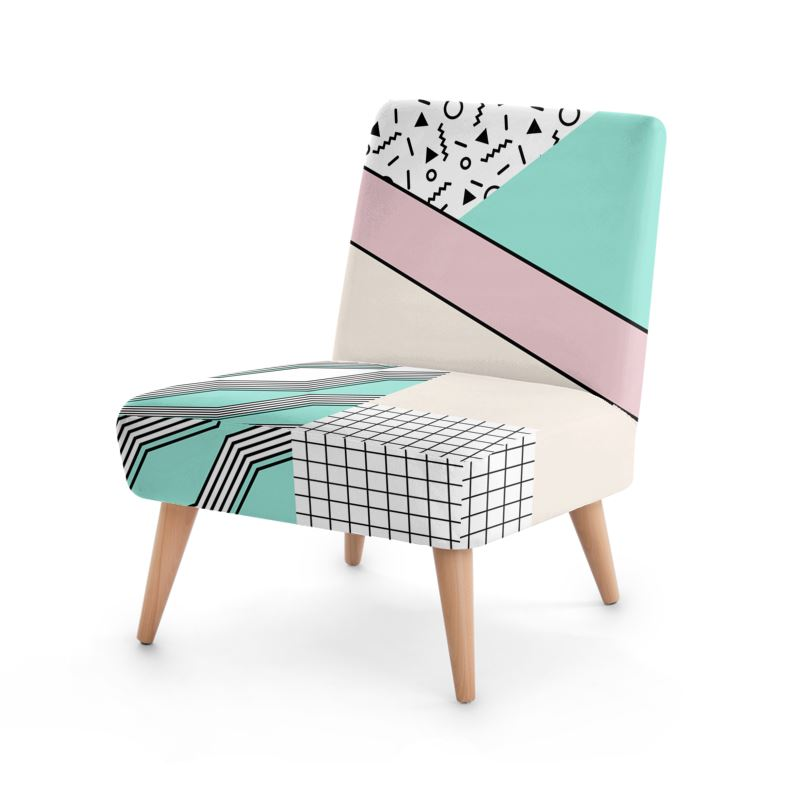 80s Modern Retro Occasional Chair - HusLiving