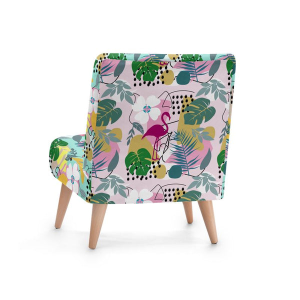 Floral Abstract Occasional Chair - HusLiving