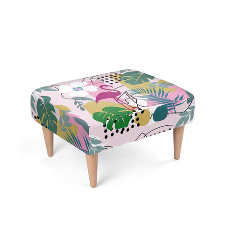 Floral Abstract Footstool - HusLiving