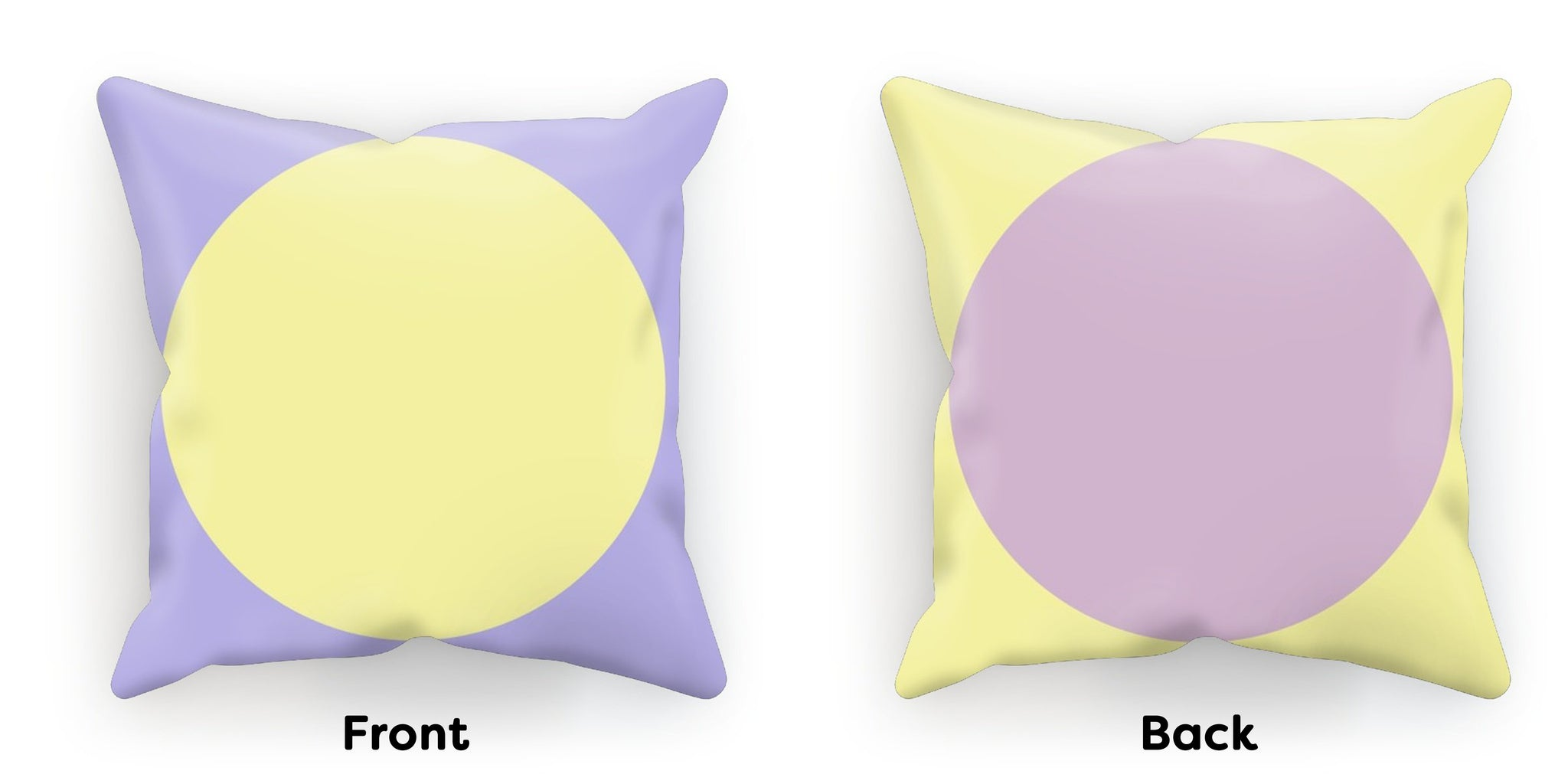 Pastel Circles, Yellow Purple Cushion - HusLiving