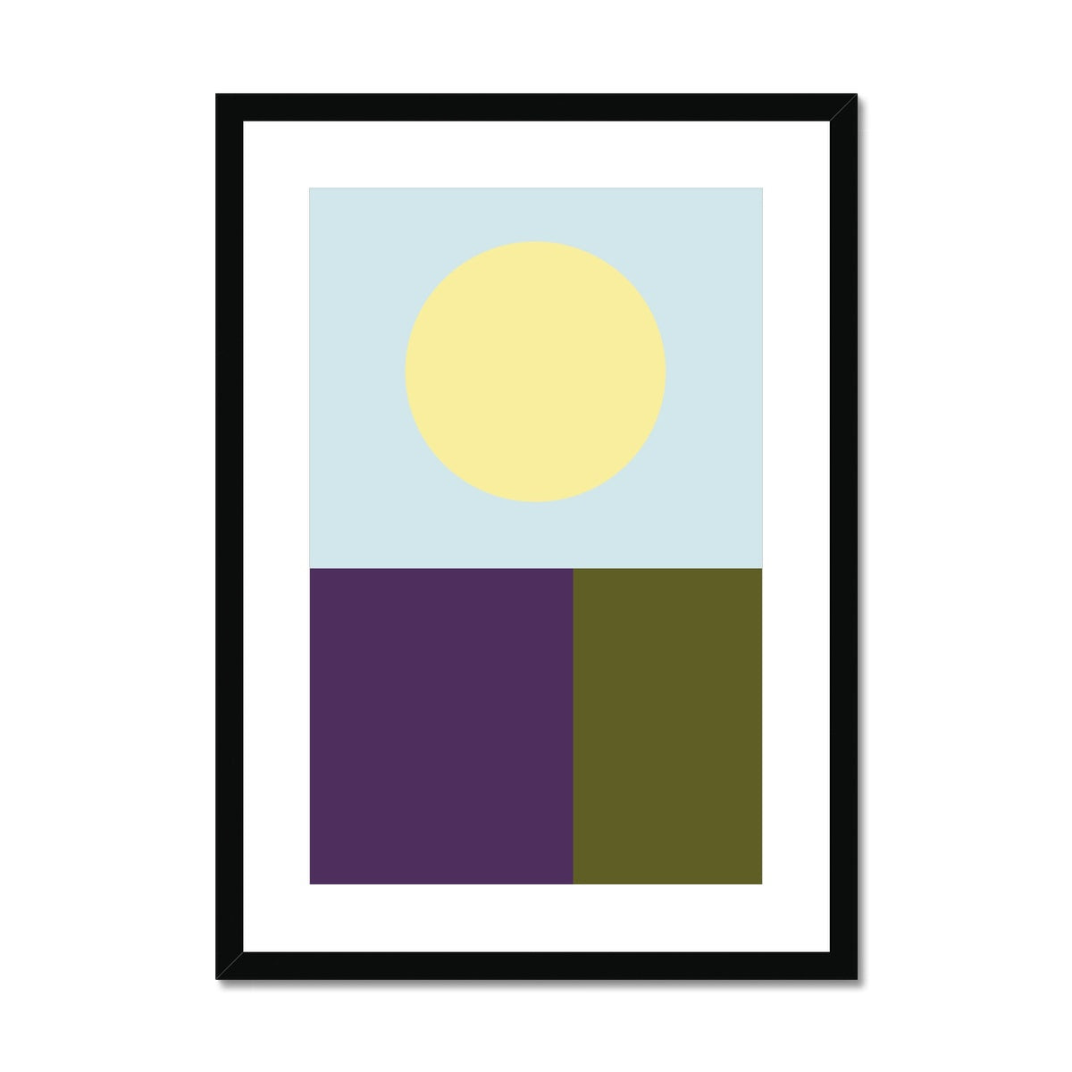 Colour Block Pt. 2 Framed & Mounted Print - HusLiving