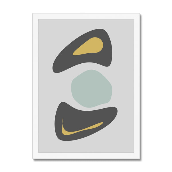 Organic Shapes Pt.2 Framed Print - HusLiving