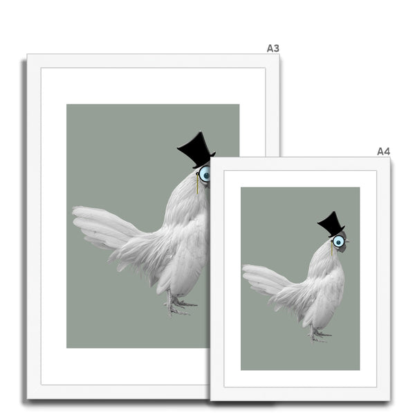 Wacky Chicken Framed & Mounted Print - HusLiving