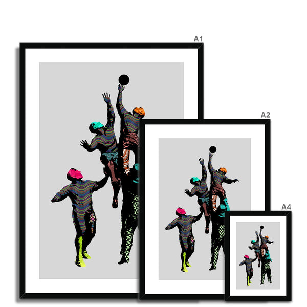 Abstract Rugby Statue Framed & Mounted Print - HusLiving