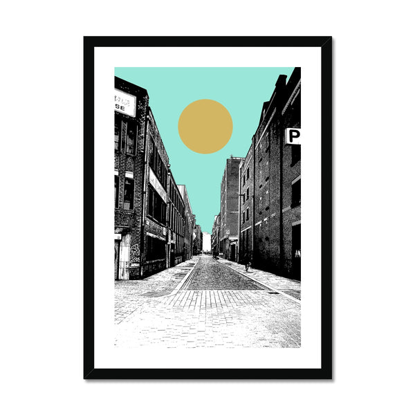 Ancoats, Manchester Abstract  Framed Print - HusLiving