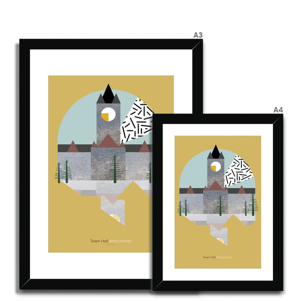 Landmarks - Town Hall, Manchester Framed & Mounted Print - HusLiving