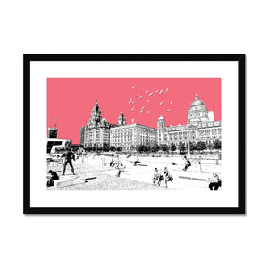 Liverpool WaterFront - Red Framed & Mounted Print - HusLiving