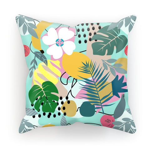 Abstract Floral Tropical Fruit Cushion - HusLiving