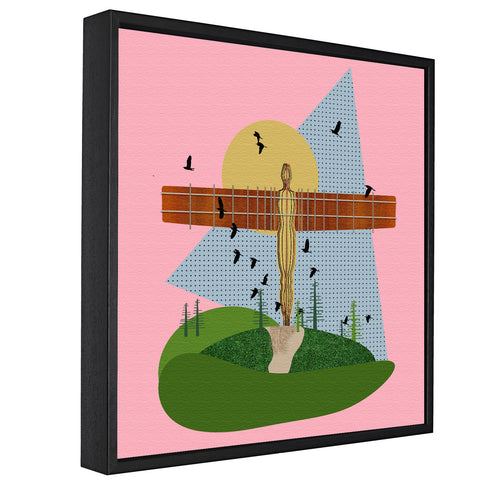 Landmarks - Angel Of The North, Gateshead -  Float Framed Canvas - HusLiving