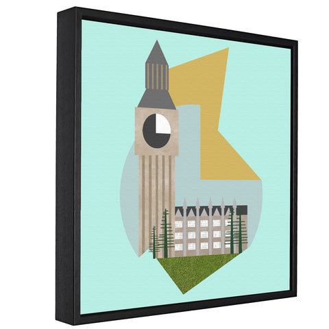 Landmarks - Big Ben, London -  Float Framed Canvas - HusLiving